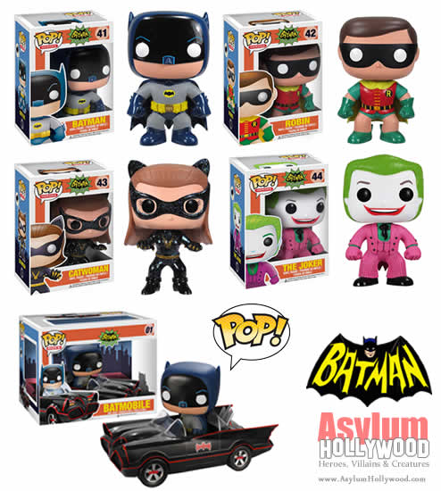 Funko Pop! 1966 Batman - Complete Set including Batmobile