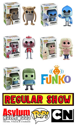 Regular Show Funko Pop! 3.75 inch collectible vinyl figures